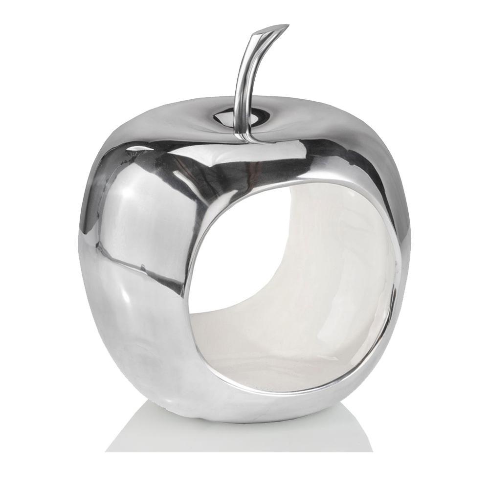 Apple Shaped Aluminum Decorative Accent Bowl - 383741. Picture 1