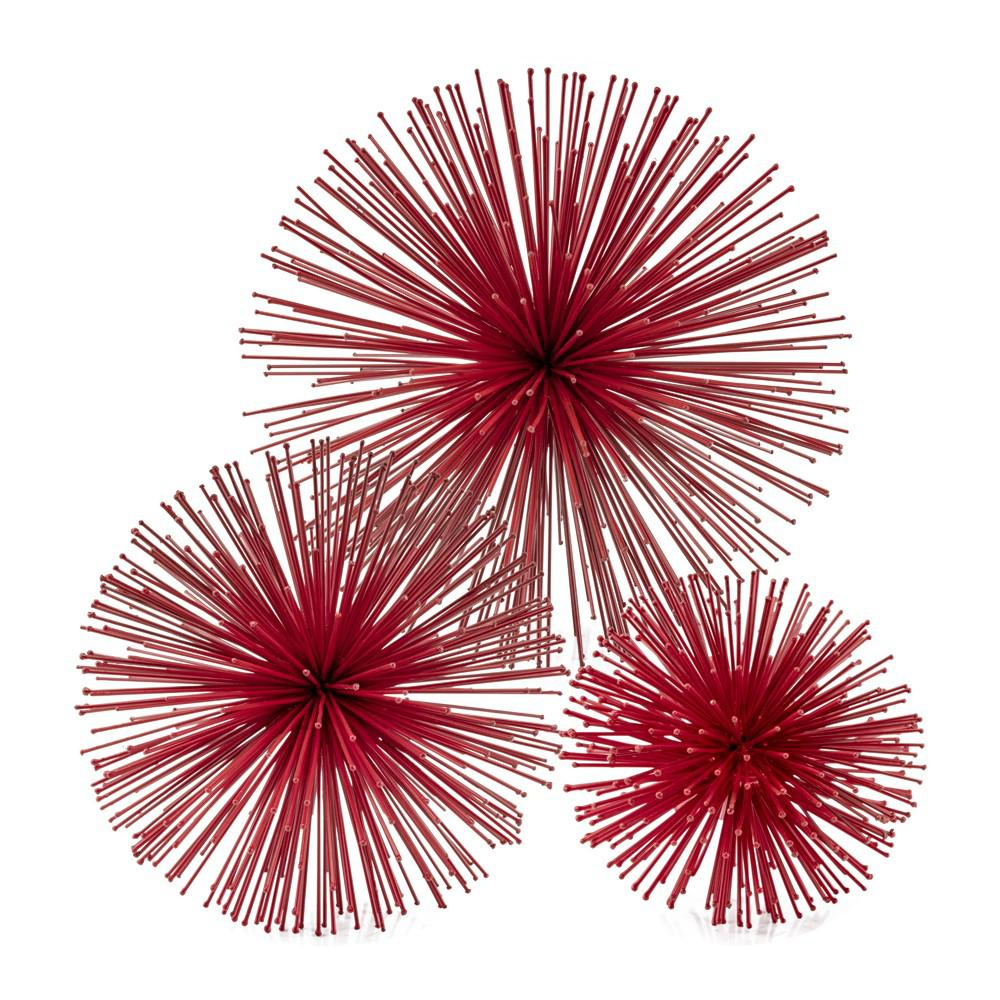 Mini Red Spiky Sphere Home Accent Filler - 383774. Picture 2