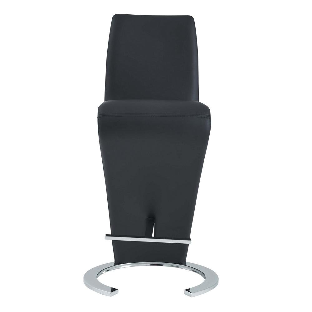 Set of 2 Black Z Shape design Barstools with Horse Shoe Shape Base - 383952. Picture 1