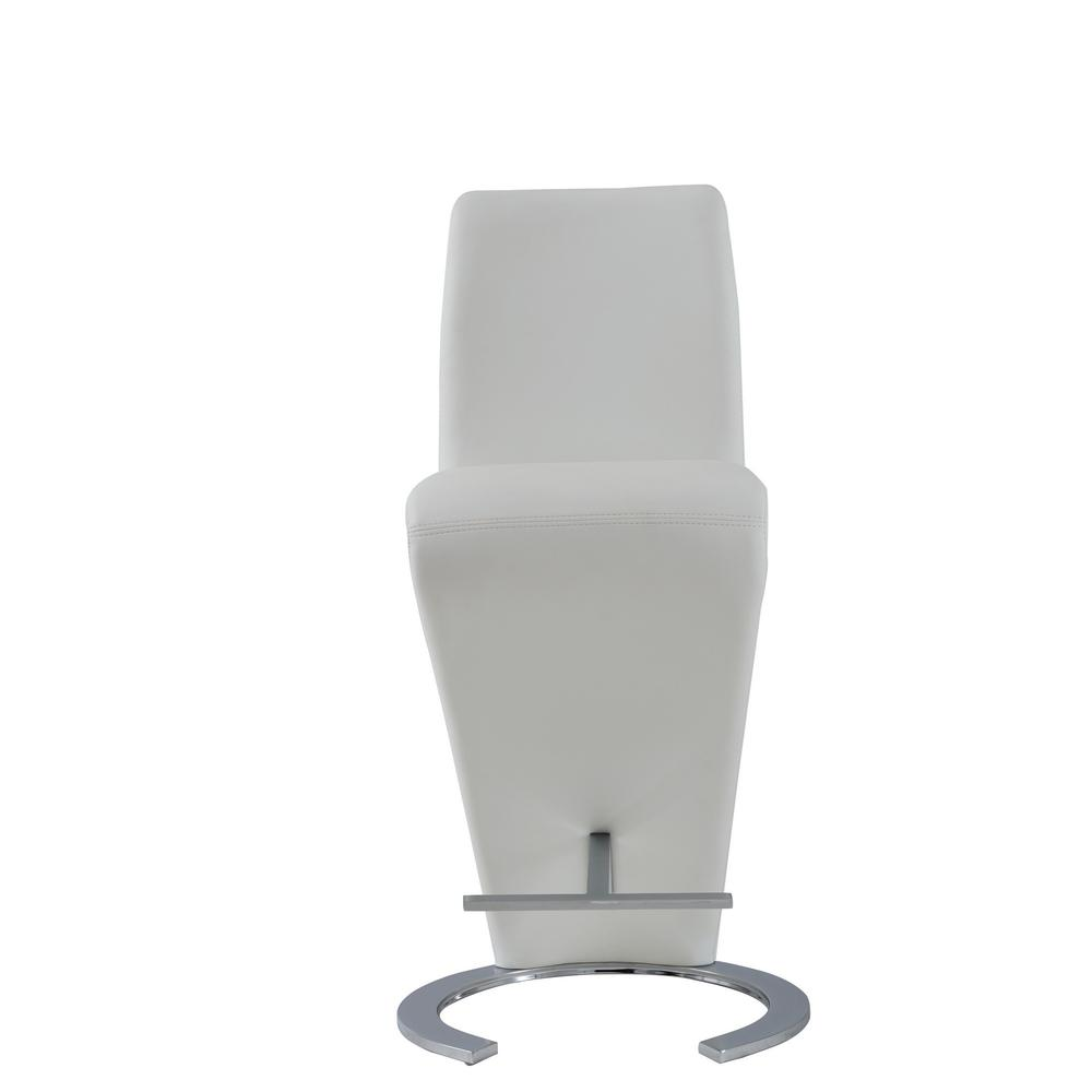 Set of 2 White Z Shape design Barstools with Horse Shoe Shape Base - 383953. Picture 1
