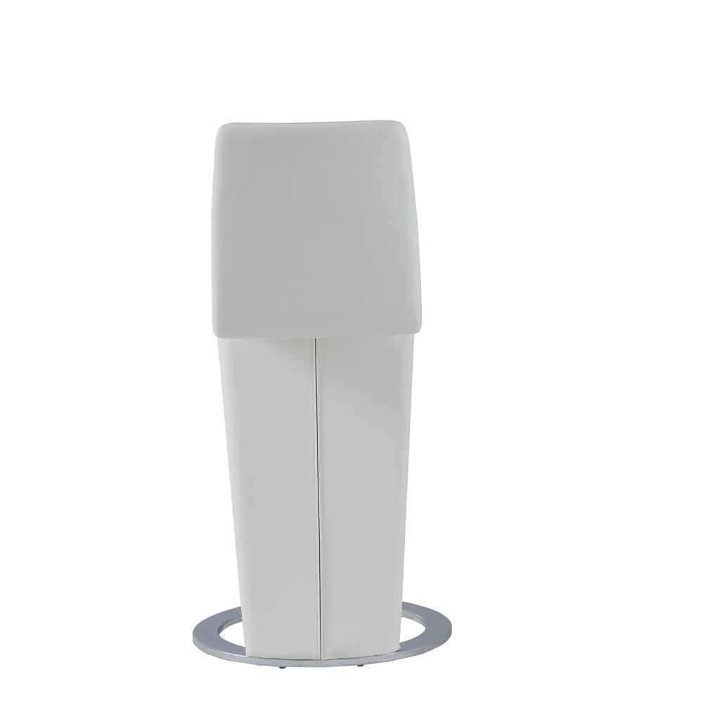Set of 2 White Z Shape design Barstools with Horse Shoe Shape Base - 383953. Picture 4