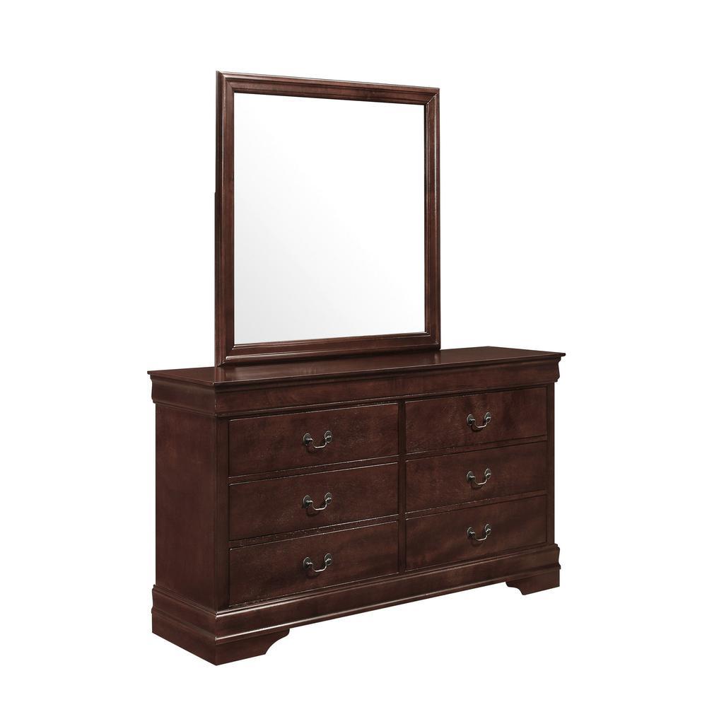 Modern Merlot Toned Mirror with Sleek Wood Trim - 383978. Picture 2