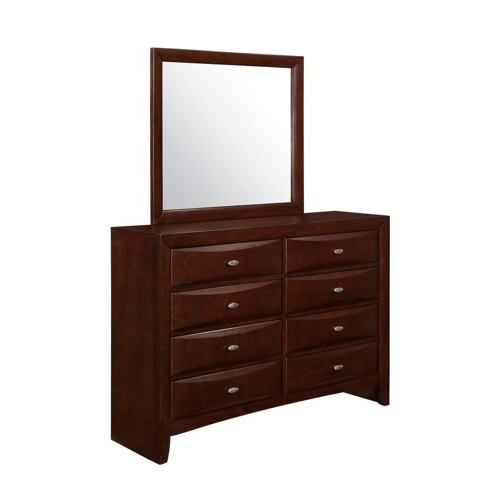 New Merlot Mirror with Rectangular Sleek Wood Trim - 384022. Picture 2
