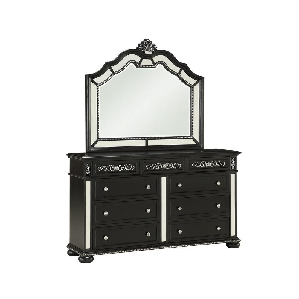 Black Heirloom Appearance Mirror with 5mm Beveled Glass - 384027. Picture 2