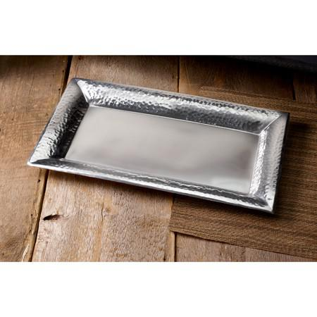 Handcrafted Hammered Stainless Steel Rectangular Tray - 384092. Picture 3