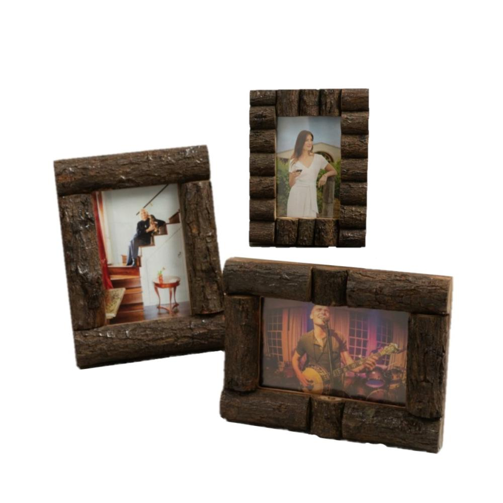 Log Cabin Style Picture Frames - 384103. Picture 1