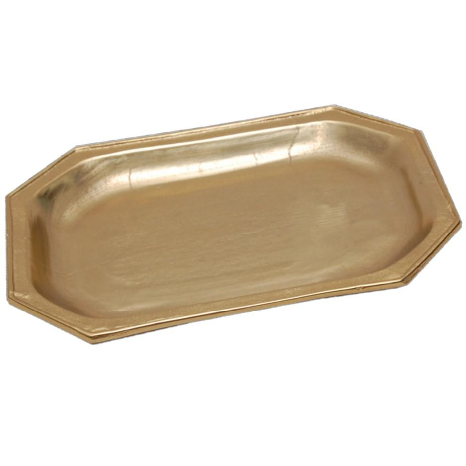 Gilded Gold Finish Textured Serving Tray - 384105. Picture 5