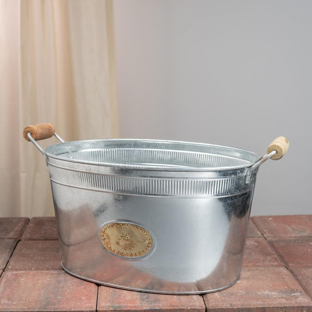 Bumble Bee Oval Stainless Steel Galvanized Beverage Tub - 384107. Picture 2