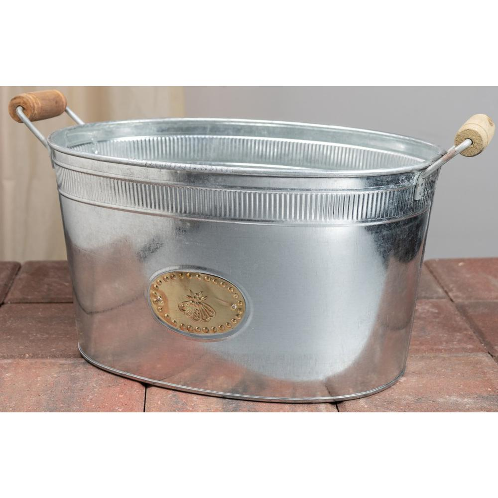 Bumble Bee Oval Stainless Steel Galvanized Beverage Tub - 384107. Picture 5