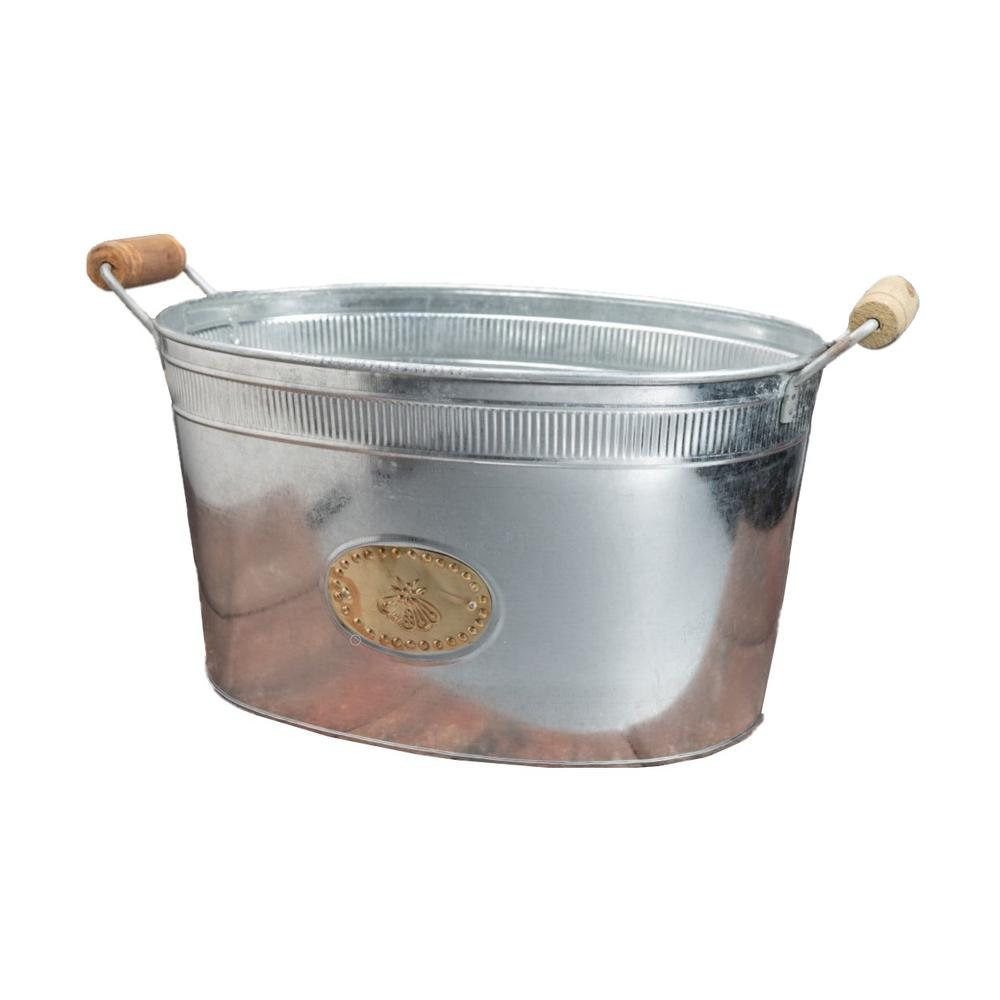Bumble Bee Oval Stainless Steel Galvanized Beverage Tub - 384107. Picture 6