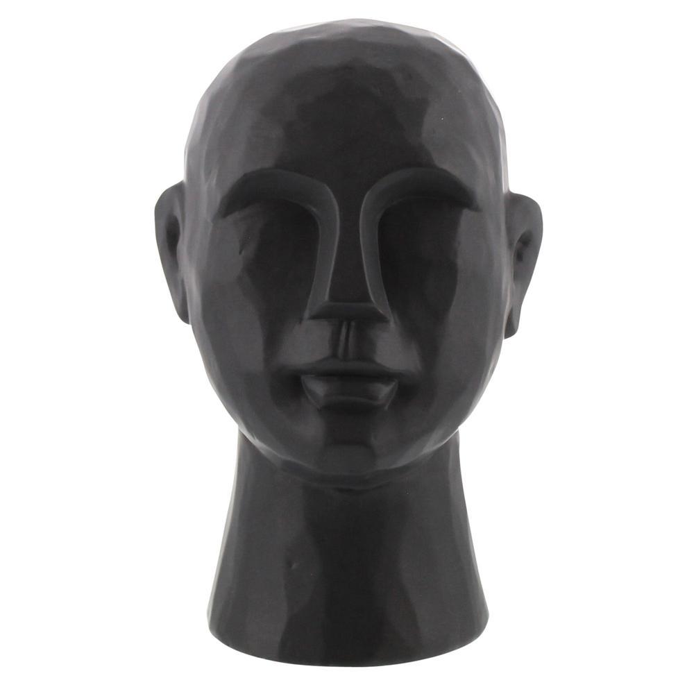 "11"" Matte Black Ceramic  Bust Decorative Sculpture - 384110. Picture 1"