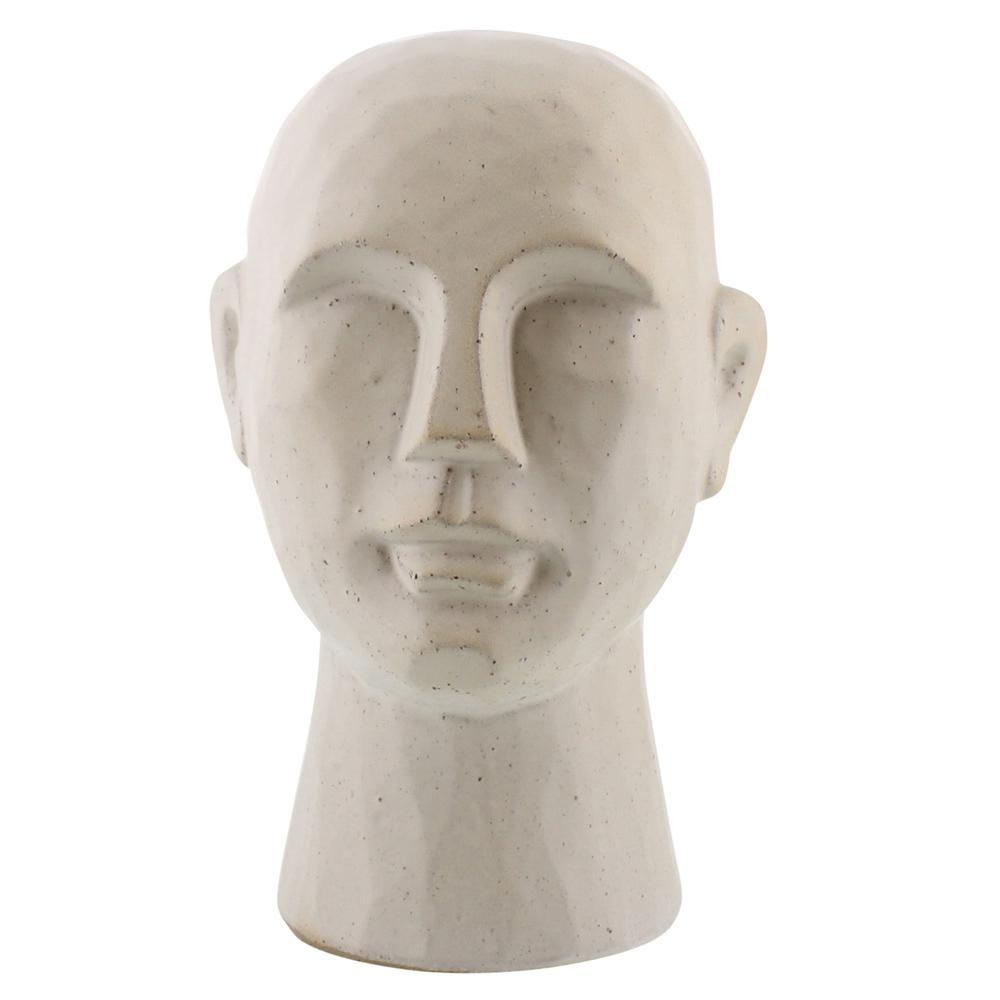 "11"" Matte White Ceramic Bust Decorative Sculpture - 384112. Picture 1"