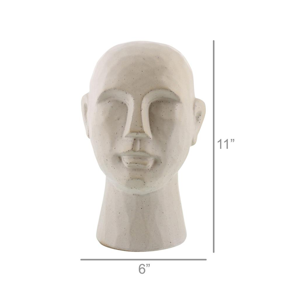 "11"" Matte White Ceramic Bust Decorative Sculpture - 384112. Picture 2"