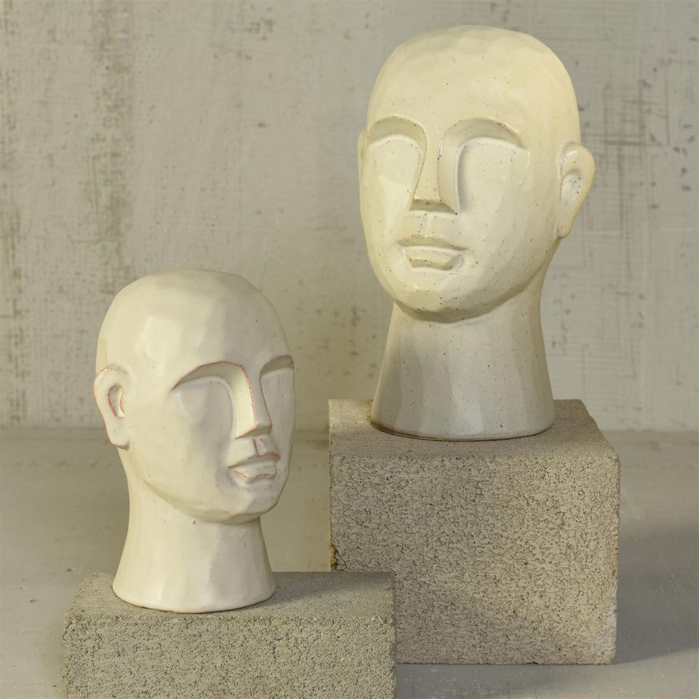 "11"" Matte White Ceramic Bust Decorative Sculpture - 384112. Picture 4"