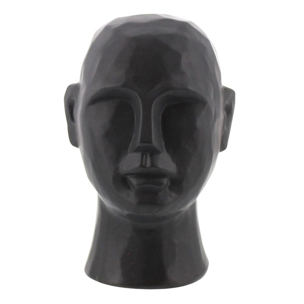 "8"" Matte Black Ceramic  Bust Decorative Sculpture - 384113. Picture 1"