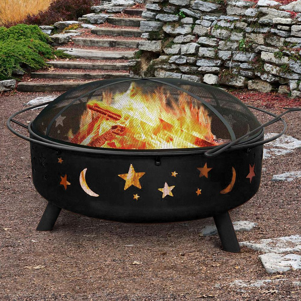 """30"""" Wood Burning Fire Pit with Charcoal Grill and Screen - 384130. Picture 7"""