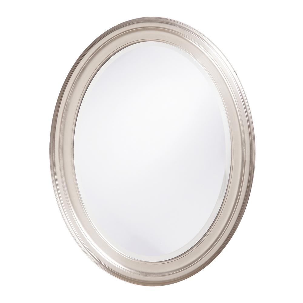 Modern Wall Mirror with Silver Leaf Frame - 384181. Picture 1