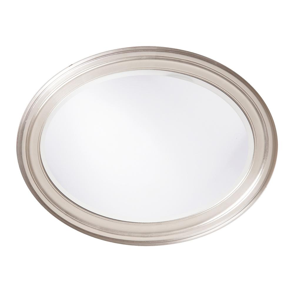 Modern Wall Mirror with Silver Leaf Frame - 384181. Picture 3