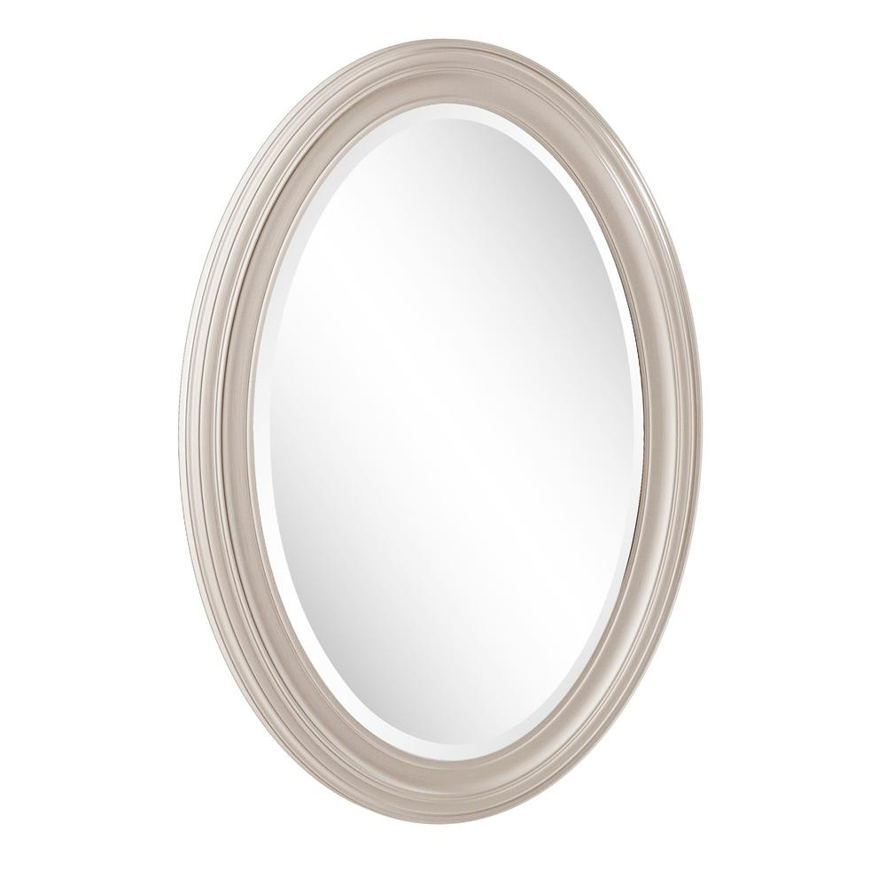 Modern Wall Mirror with Silver Leaf Frame - 384181. Picture 4