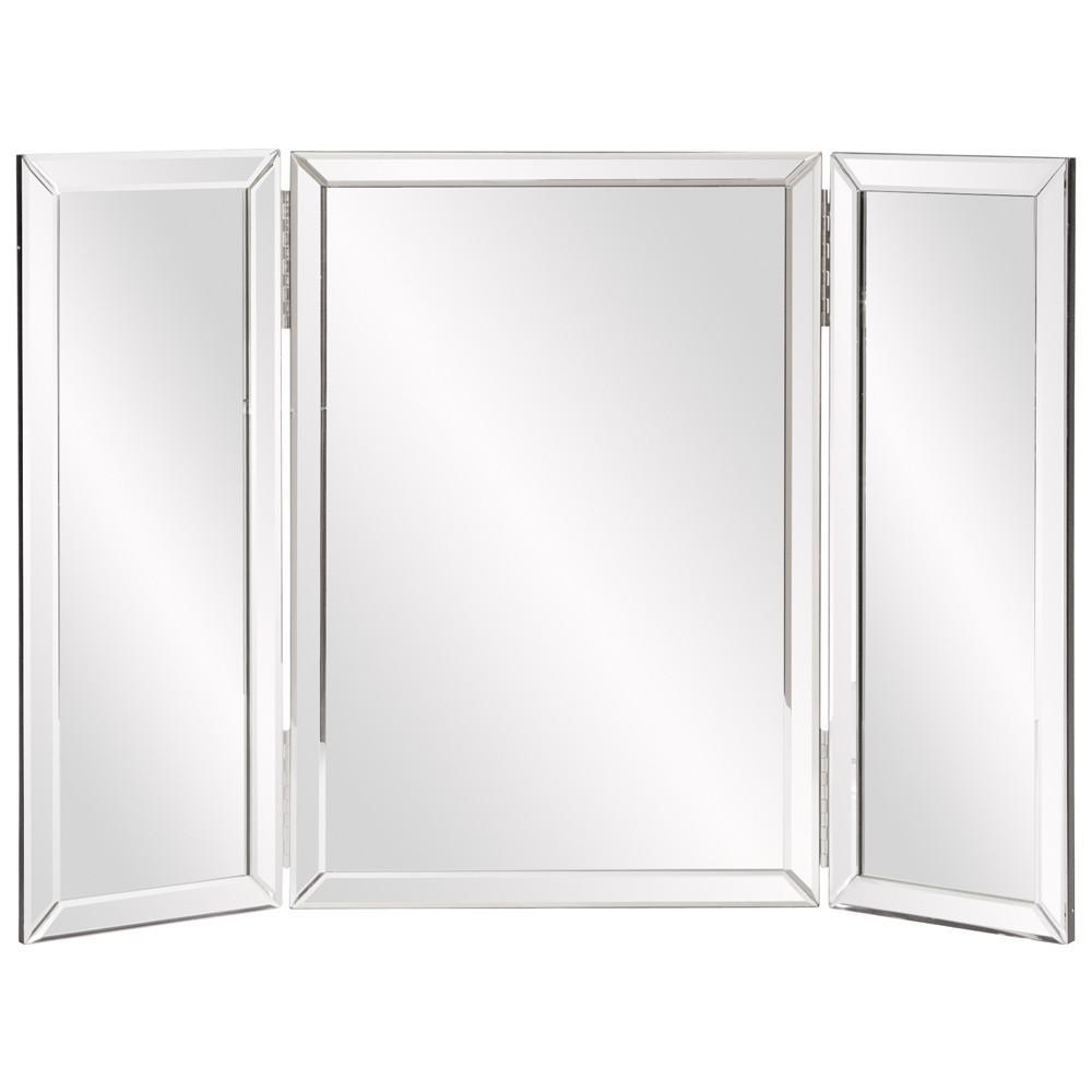 Three Part Hinged Vanity Tabletop Mirror - 384184. Picture 2
