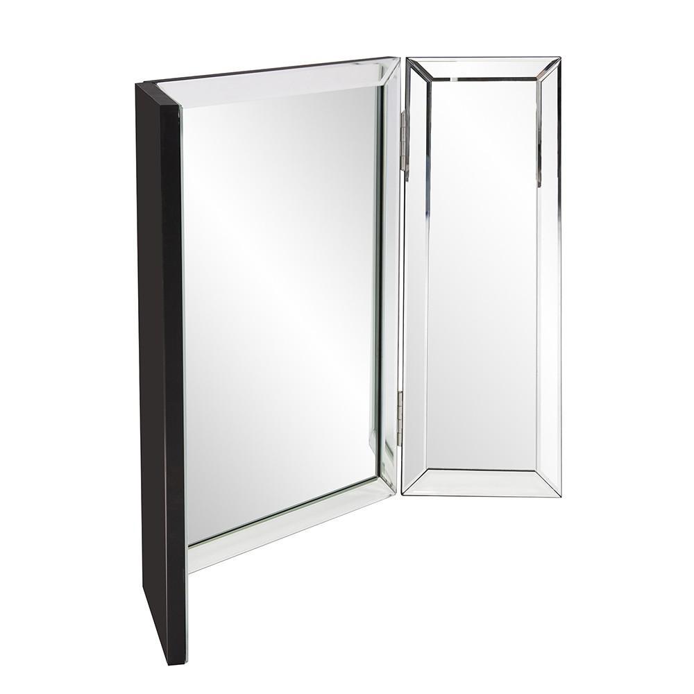 Three Part Hinged Vanity Tabletop Mirror - 384184. Picture 5