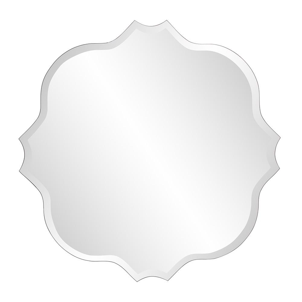 Frameless Scalloped Wall Mirror - 384186. Picture 1