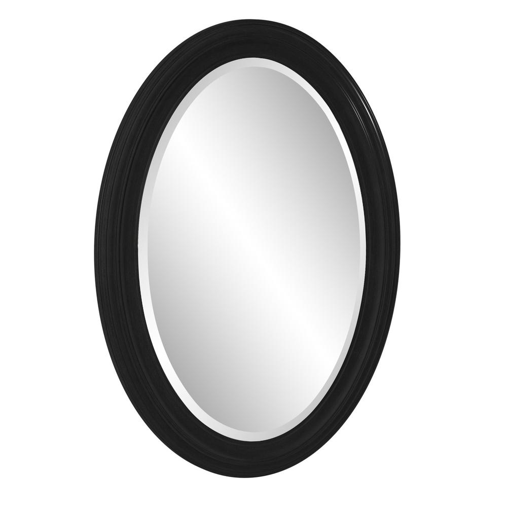Oval Shaped Black Wood Frame Mirror - 384187. Picture 4