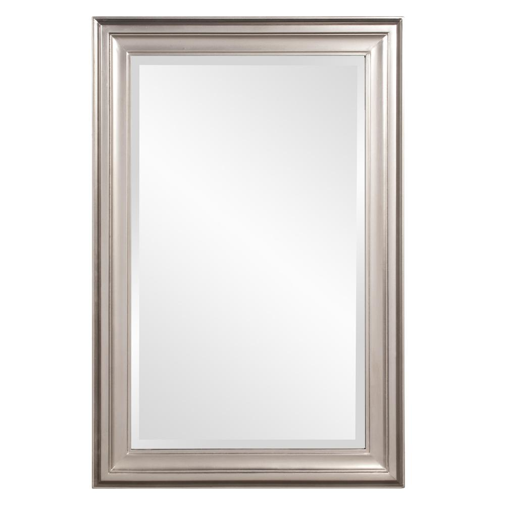 Rectangular Mirror with Leaf Wood Frame - 384188. Picture 1