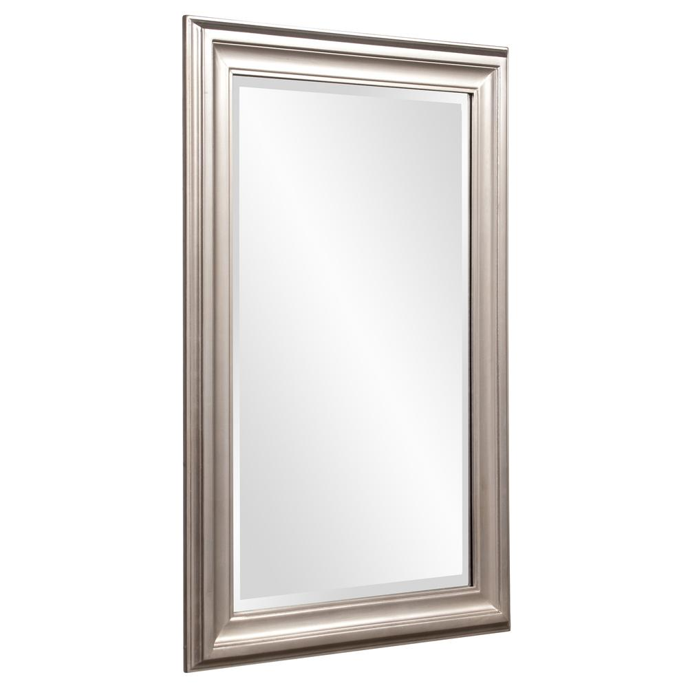 Rectangular Mirror with Leaf Wood Frame - 384188. Picture 3