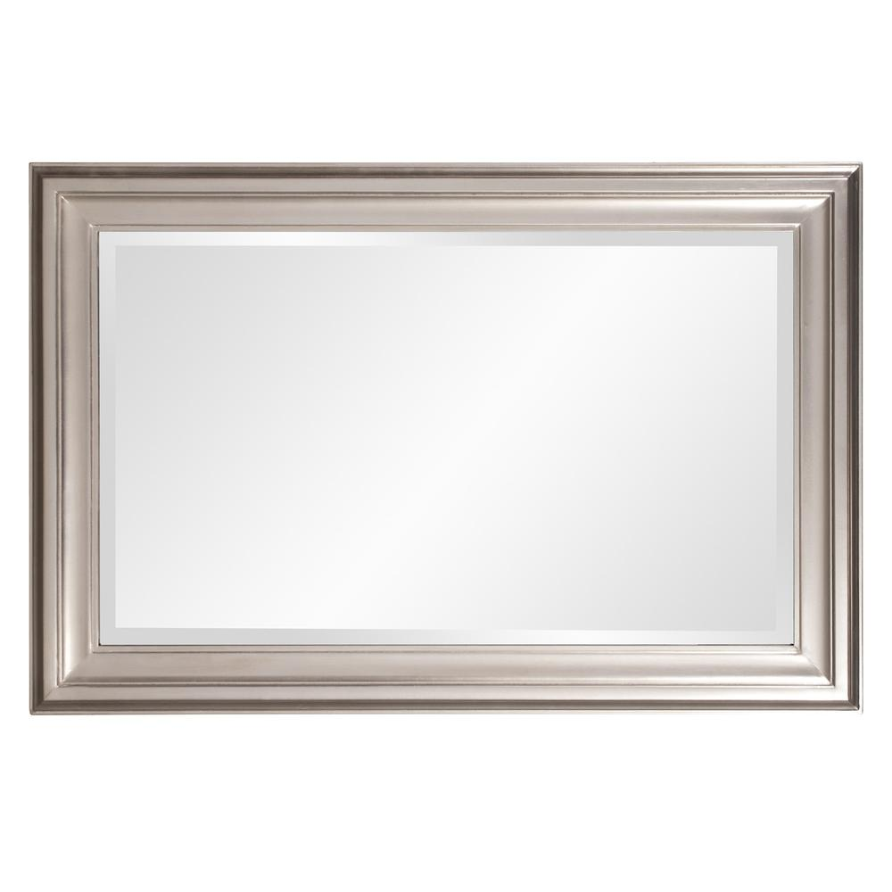 Rectangular Mirror with Leaf Wood Frame - 384188. Picture 4