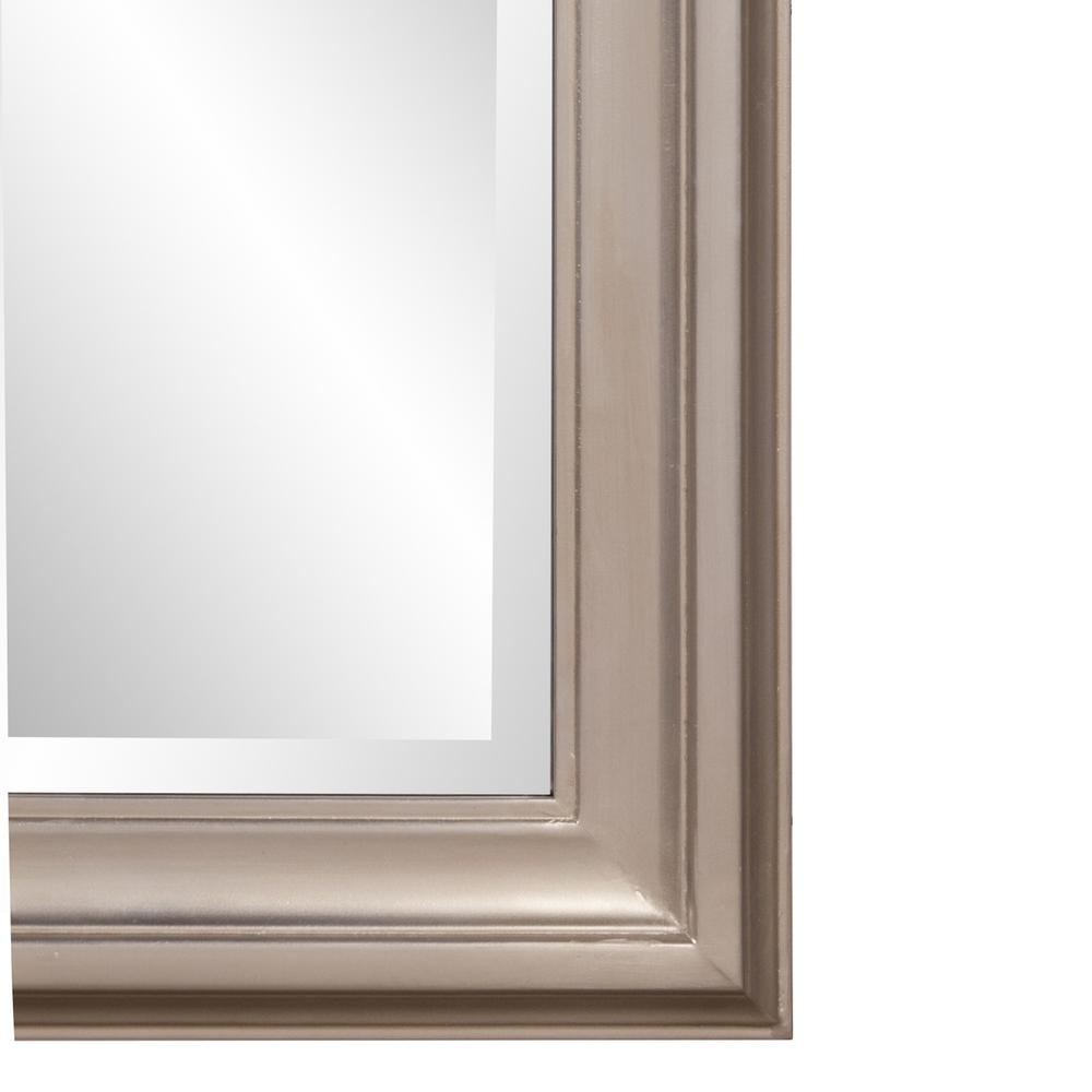 Rectangular Mirror with Leaf Wood Frame - 384188. Picture 5