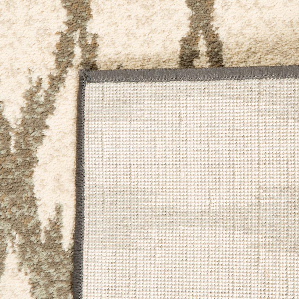 7' Ivory Gray Light to Dark Geometric Indoor Runner Area Rug - 384249. Picture 2