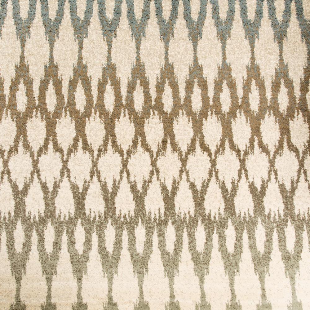 7' Ivory Gray Light to Dark Geometric Indoor Runner Area Rug - 384249. Picture 3