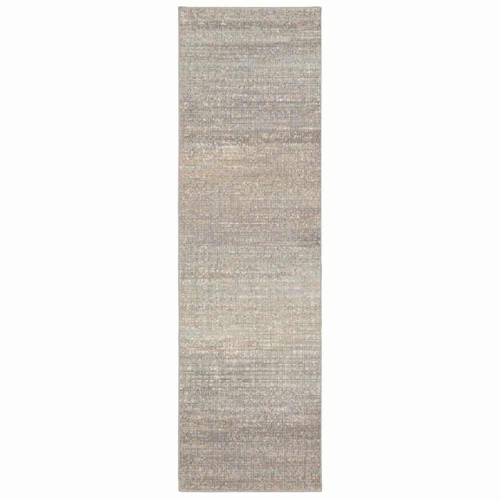 7' Gray Green Abstract Confetti Indoor Runner Rug - 384273. Picture 1