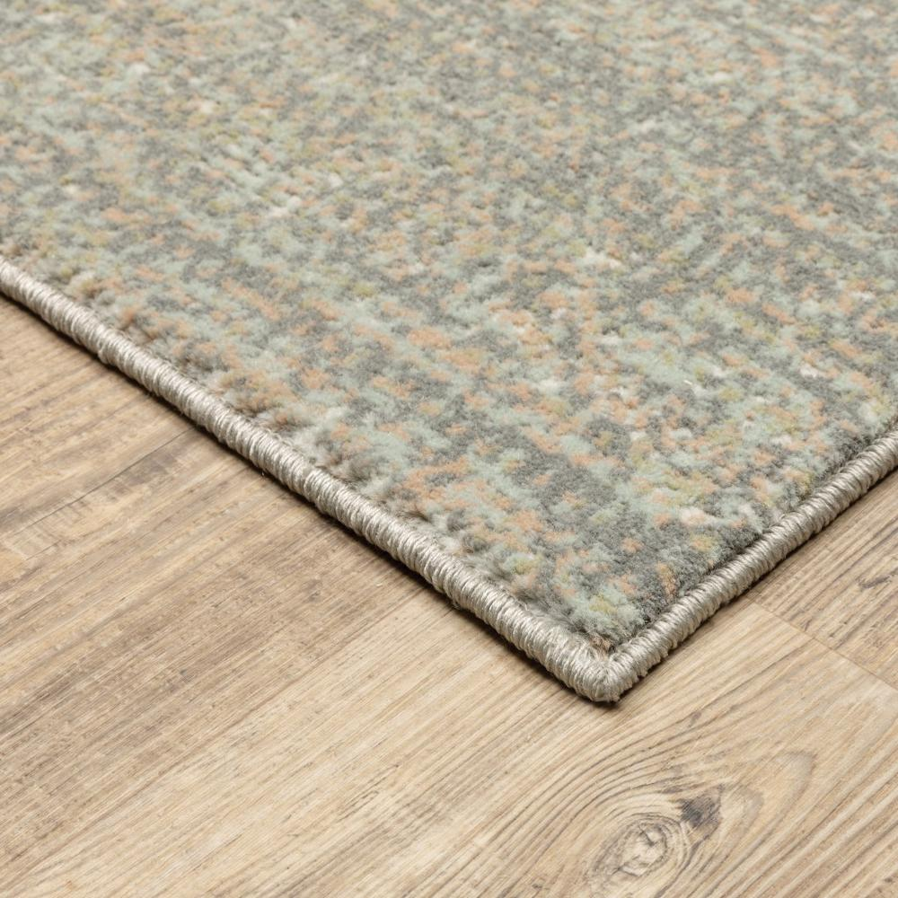 7' Gray Green Abstract Confetti Indoor Runner Rug - 384273. Picture 2