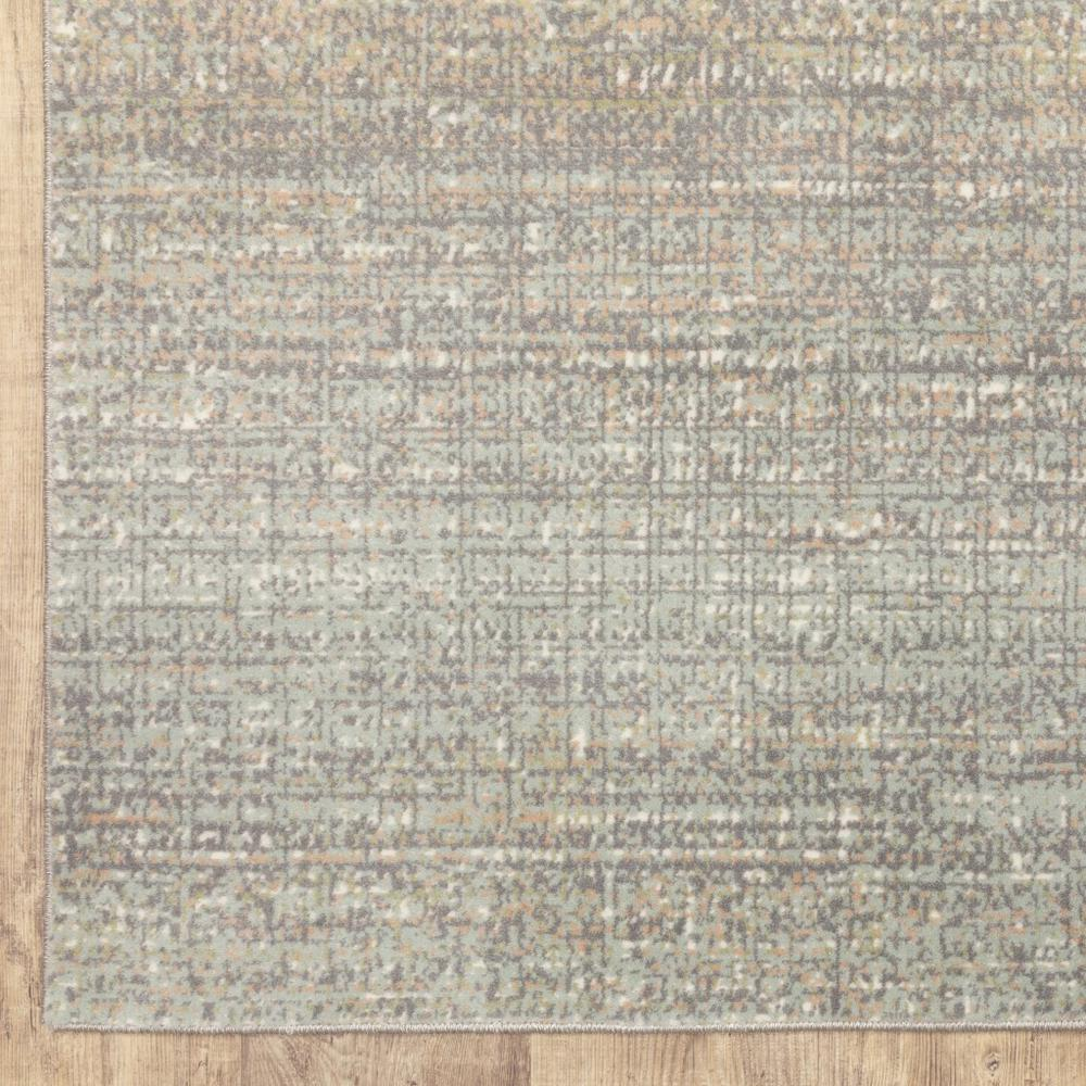 7' Gray Green Abstract Confetti Indoor Runner Rug - 384273. Picture 3
