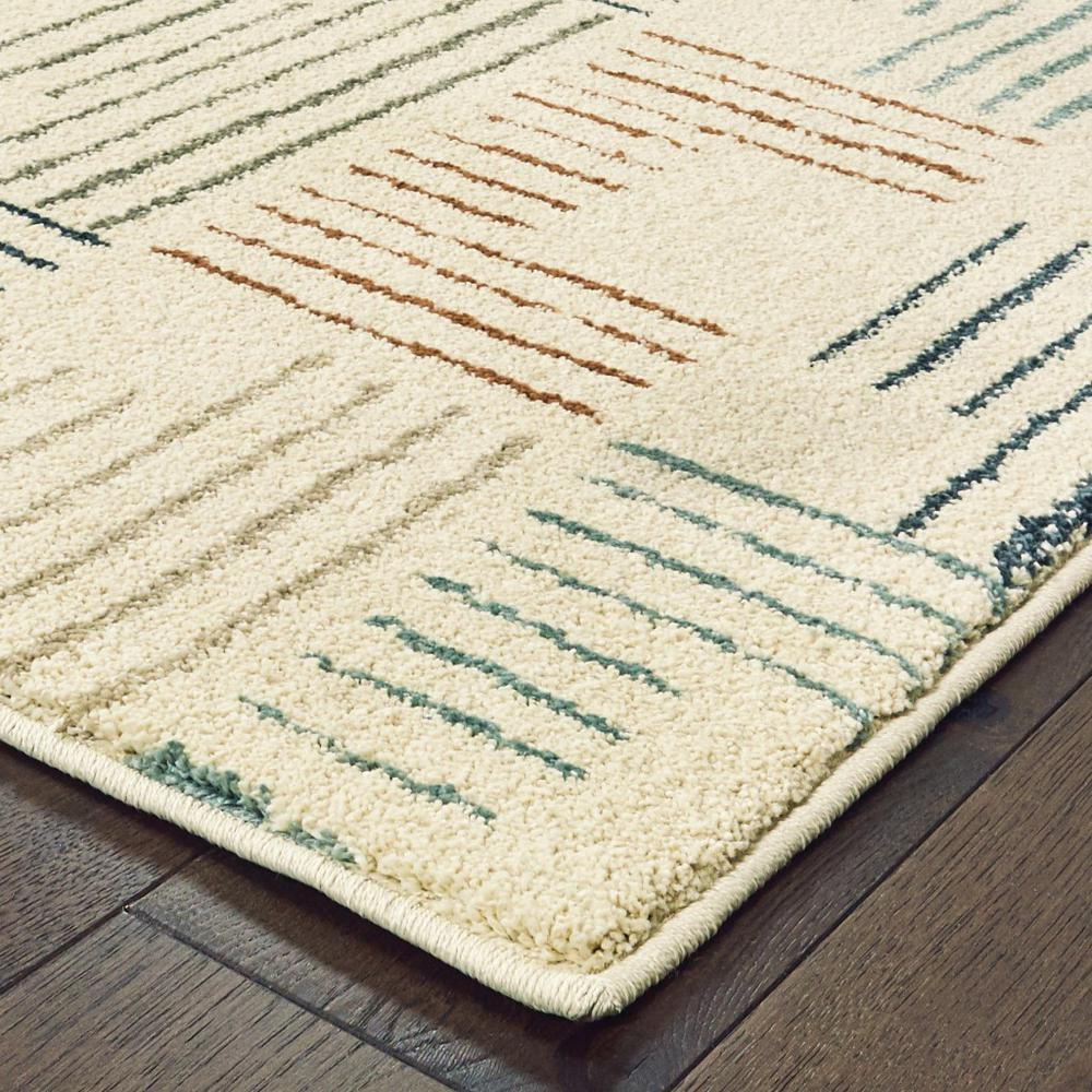 5' x 7' Ivory Multi Neutral Tone Scratch Indoor Area Rug - 384295. Picture 2