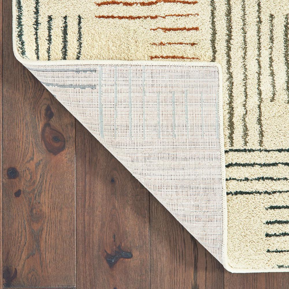 5' x 7' Ivory Multi Neutral Tone Scratch Indoor Area Rug - 384295. Picture 3