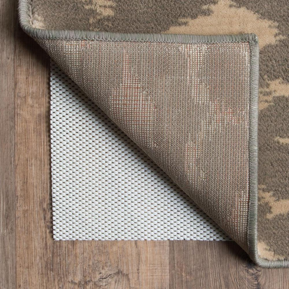 1' x 8' Beige Non Slip Rug Pad - 384348. Picture 1