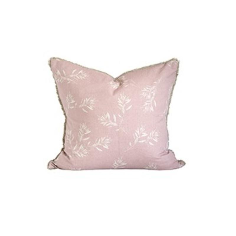 Set of 2 Light Pink Branches Natural Accent Pillows - 384401. Picture 1