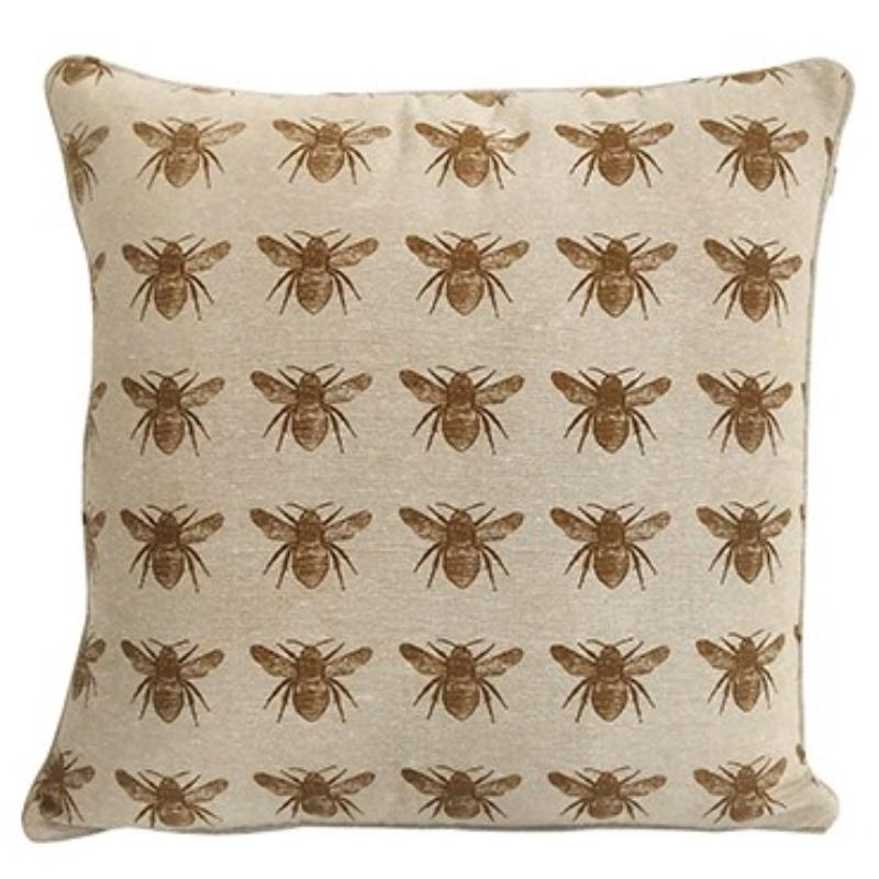 Set of 2 Mustard Multi Bumble Bee Decorative Accent Pillows - 384418. Picture 1