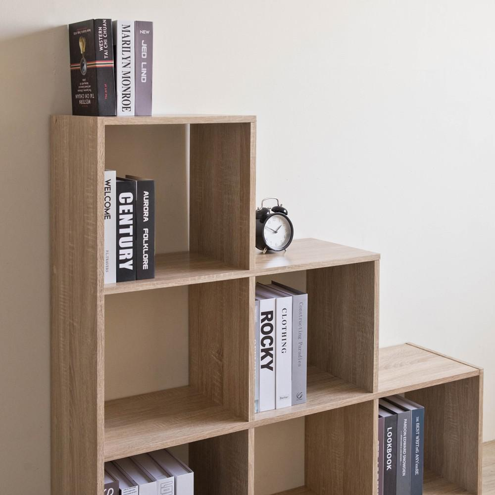 Graduated Step Natural 6 Cube Shelving Unit - 384467. Picture 3