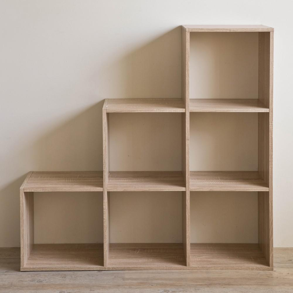 Graduated Step Natural 6 Cube Shelving Unit - 384467. Picture 5