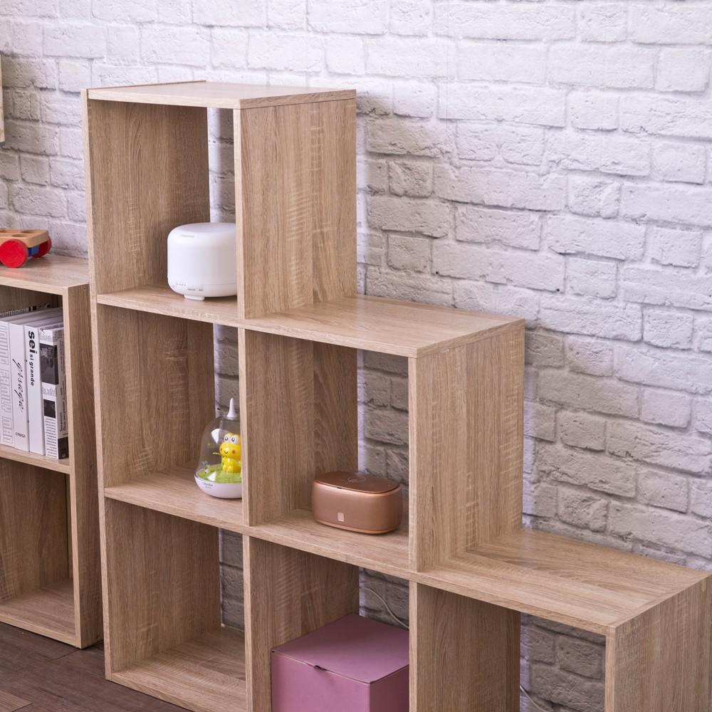 Graduated Step Natural 6 Cube Shelving Unit - 384467. Picture 6