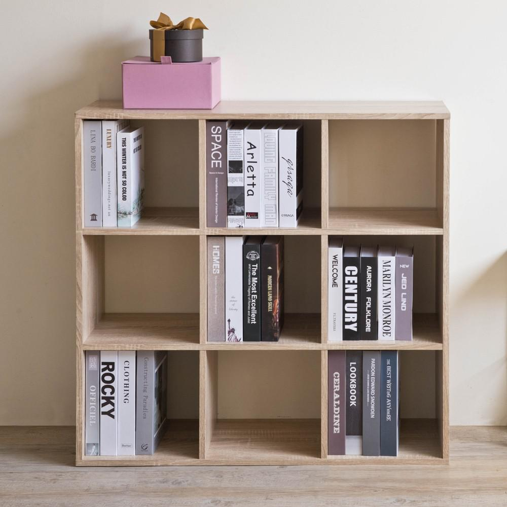 Natural Nine Grid Open Cube Storage Shelf - 384471. Picture 3