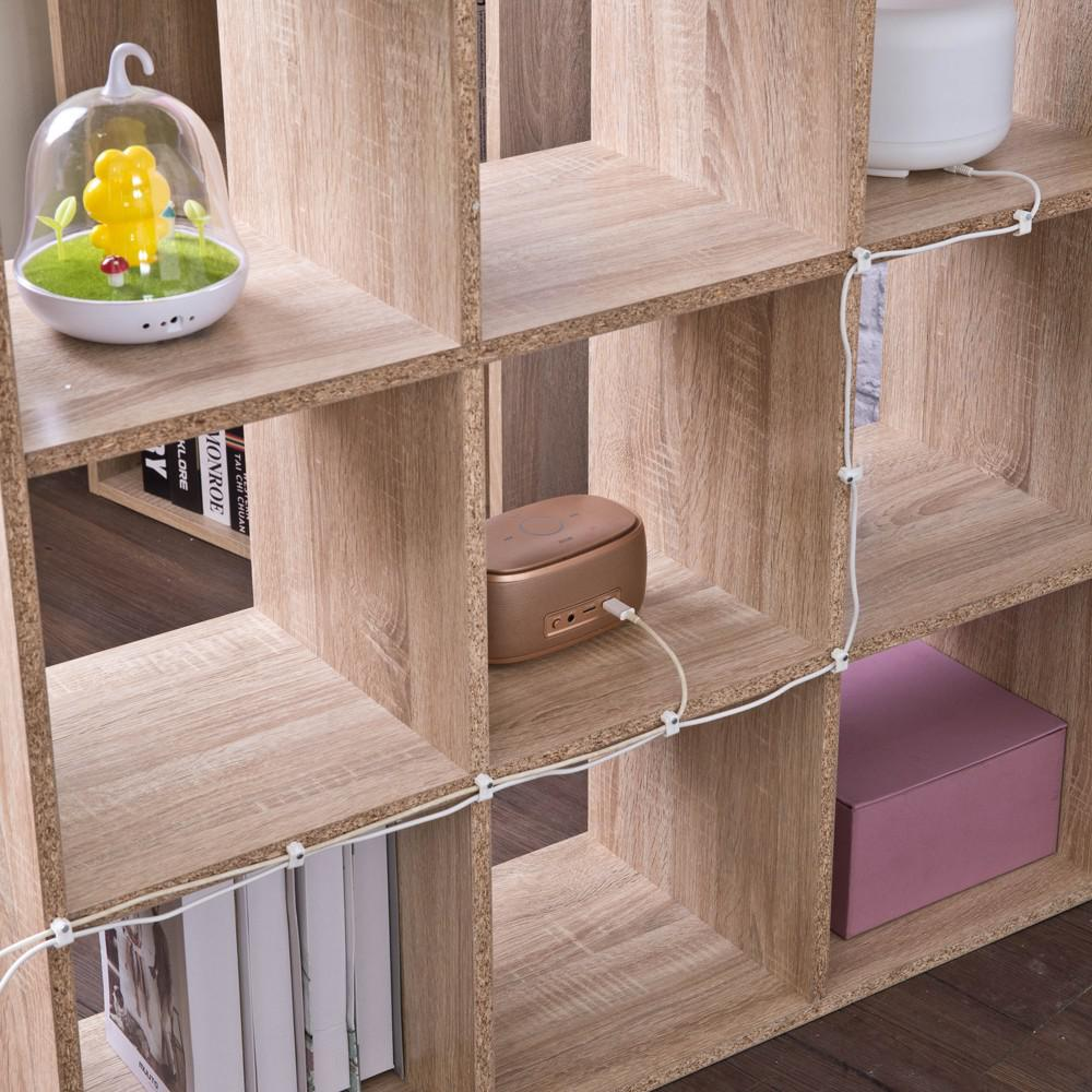 Natural Nine Grid Open Cube Storage Shelf - 384471. Picture 5