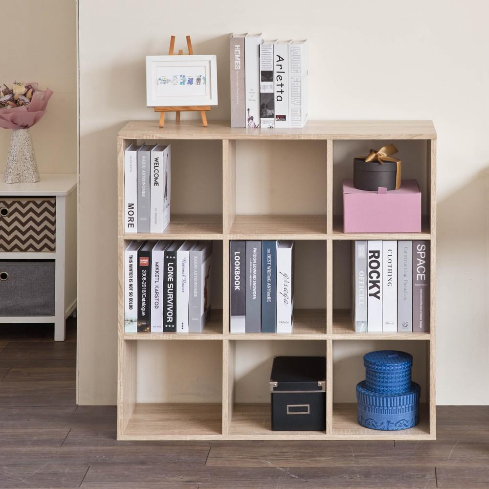 Natural Nine Grid Open Cube Storage Shelf - 384471. Picture 6
