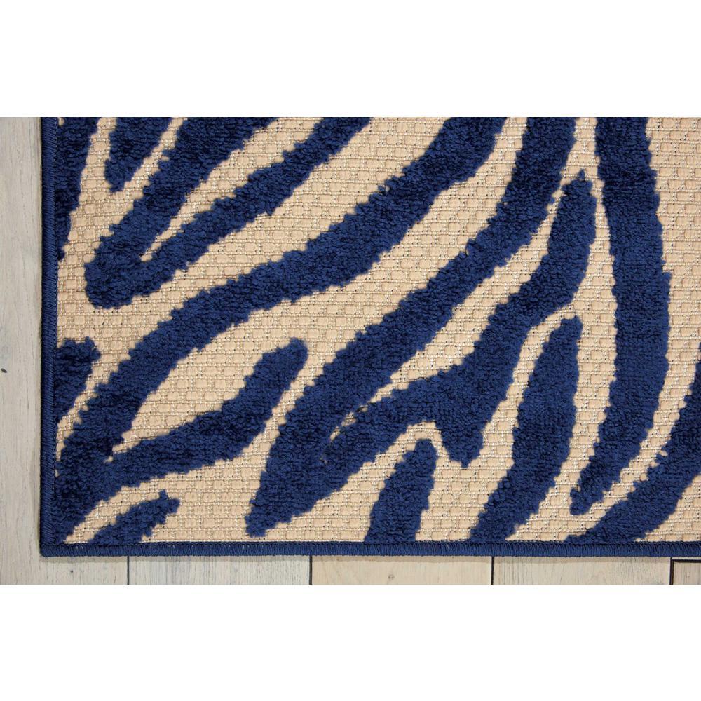 5' x 8' Navy Zebra Pattern Indoor Outdoor Area Rug - 384587. Picture 2