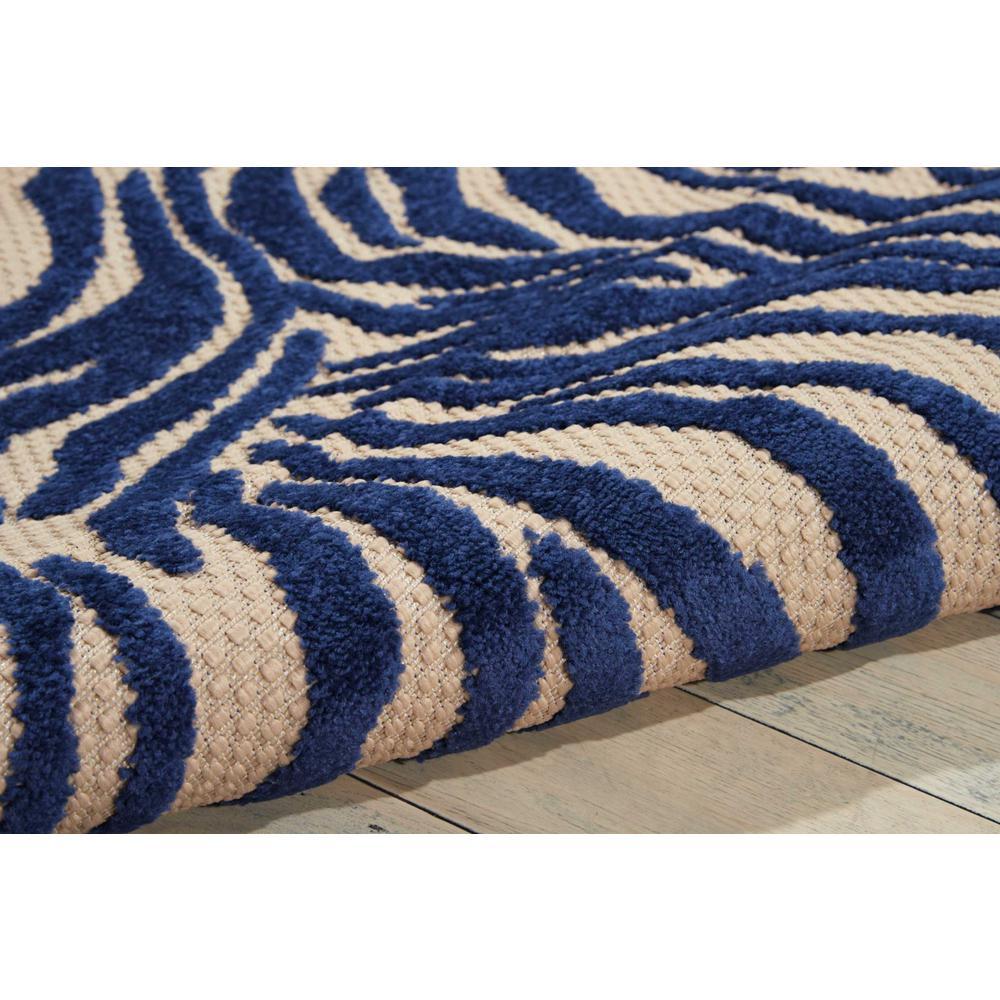 5' x 8' Navy Zebra Pattern Indoor Outdoor Area Rug - 384587. Picture 3
