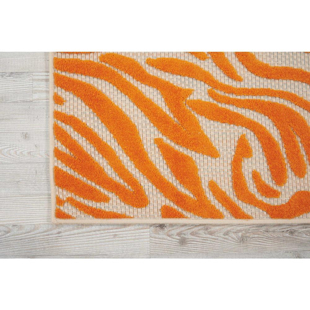 4' x 6' Orange Zebra Pattern Indoor Outdoor Area Rug - 384590. Picture 2